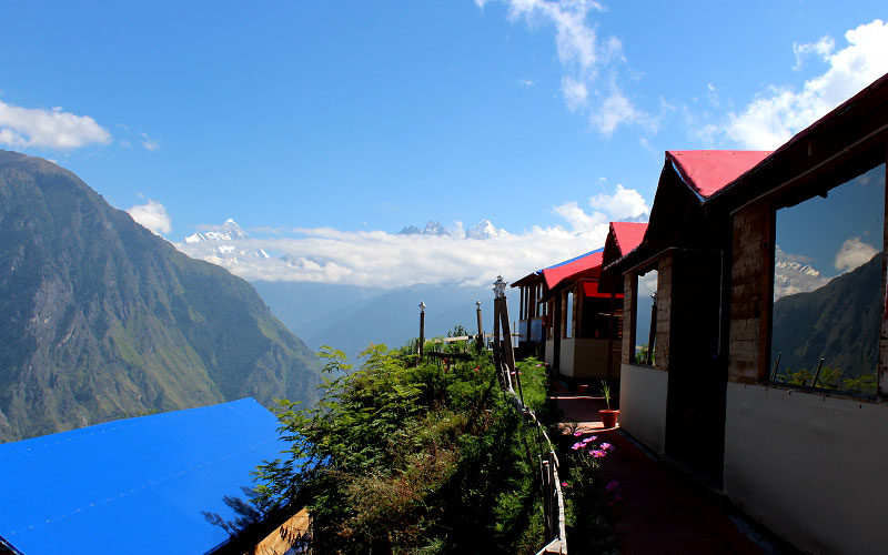 Nanda Devi Peak view from the Resort