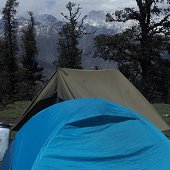 Camping at Gorson top